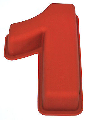 NR 1 X Numbers Shaped Silicone Birthday Cake Mould Kids Baking Tray Sugarcraft
