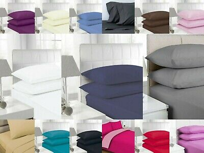 """40 CM Extra Deep Fitted Sheet 16"""" Percale Quality Single Double King Super King"""