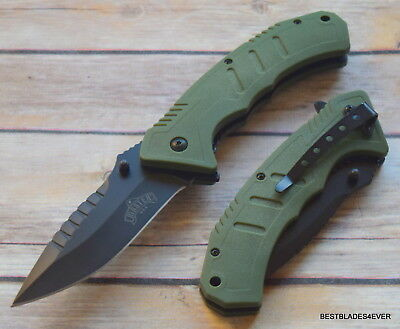 Master Usa Tactical Spring Assisted Knife With Pocket Clip - 8.5 Inch