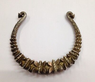 vintage antique ethnic tribal old silver neckring necklace choker