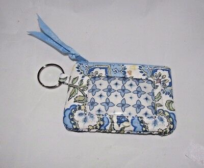 Longaberger Earth & Sky Cotton Fabric Check My Id Holder Coin Change Id Purse