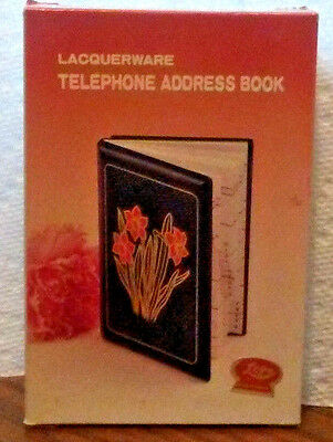 Vintage Lacquerware Daffodil Address Telephone Book Lego unused in original box
