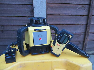 Leica Rugby 610 Self Levelling Rotating Laser + Rod Eye Reciever Complete Boxed