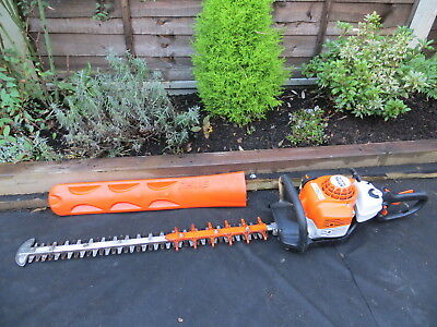2017 Stihl HS82 RC Double Sided Swivel Handle Petrol Hedge Trimmer Vgc