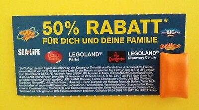 legoland 50 familien rabatt gutschein gardaland m tussauds heidepark sea life eur 1 99. Black Bedroom Furniture Sets. Home Design Ideas