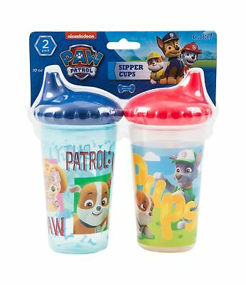 Nickelodeon PAW Patrol Chase and Friends Slim Sippy Cups Blue and Red 2 Count