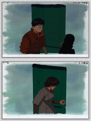 Akira Anime Cel Set Animation Art Kaneda in Red Leather Kei Hideout Otomo 1988