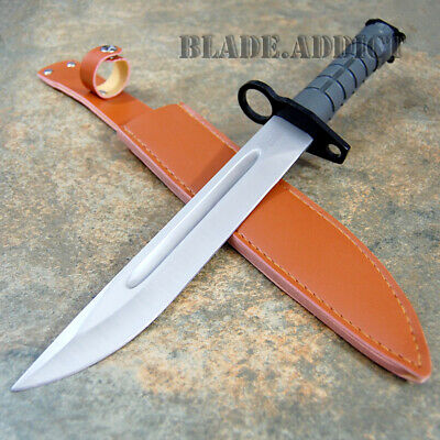 "13.5"" US MILITARY ARMY Tactical Bayonet Fixed Blade Hunting Combat Knife NEW"