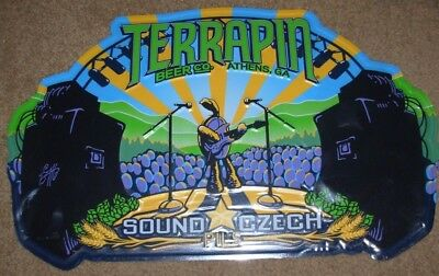 TERRAPIN BEER CO Sound Czech Logo METAL TACKER SIGN craft beer brewery brewing