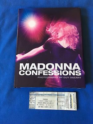 Madonna Confessions Hardcover Book 2008 + Concert Ticket