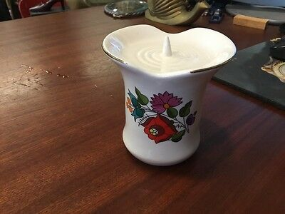 KALOCSA Hungary Handpainted Flowers Candle Stick/Holder