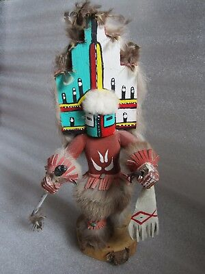 Gorgeous Original Old Vintage Native American Indian Hopi Kachina Doll Signed