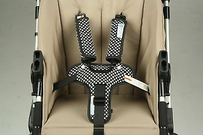 Keep Me Cosy Pram Harness & Buckle Cosy (patented) -  Ink Spot (Navy/Black)