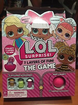 L.O.L. Surprise 7 LAYERS OF FUN THE GAME LOL BOARD GAME HOT CHRISTMAS HTF