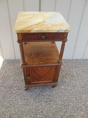 57812 Marble Top Nightstand Table Stand