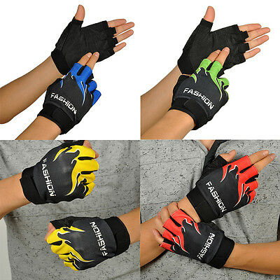 Sports Bicycle Cycling Biking Hiking Protect Half Finger Fingerless Gloves #b