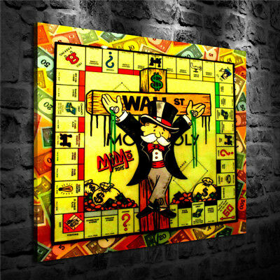 Alec Monopoly Cross,Home Decor HD Print Art Painting on Canvas 24x24/Unframed