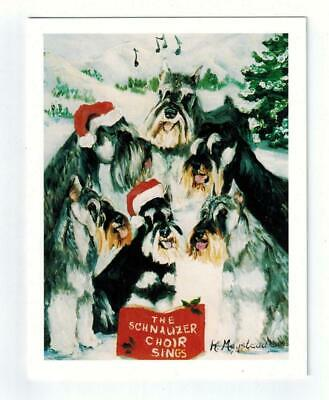 New Schnauzer Pet Dog Holiday 6 Greeting Cards Set & 6 Envelopes by Ruth