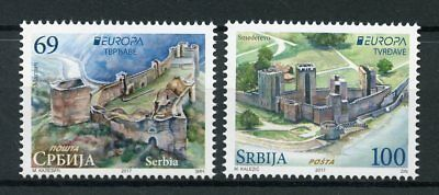 Serbia 2017 MNH Castles Europa Smederevo Fortress 2v Set Architecture Stamps