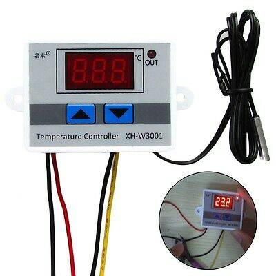 220V 12V 10A Digital LED Temperature Controller Thermostat Control Switch Probe