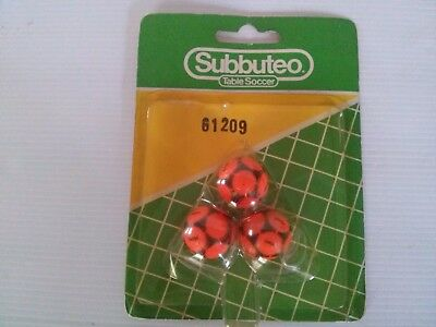 Subbuteo 61209 Orange footballs x 3 . New in unopened packaging.