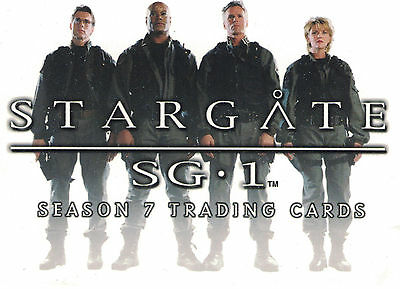 Stargate Season 7 Trading Card Set (72 Cards)