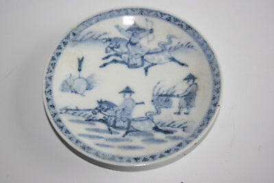 19th Century Antique Chinese Porcelain Blue and White Painted Small Plate