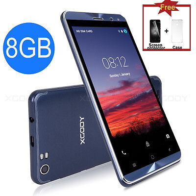 "XGODY 5.0"" 8GB Unlocked 3G 5MP Quad Core GPS Android 5.1 Mobile Phone Smartphone"