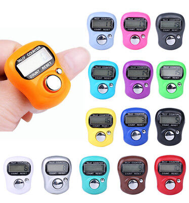 Hot Digit Digital LCD Electronic Finger Hand Ring Knitting Row Tally Counter