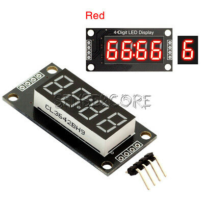 0.56 Inch TM1637 4-Bits Digital  LED Anzeige Clock Tube  Display For Arduino Red