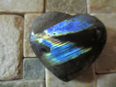 LABRADORITE NATURAL MINED CUT TO HEART PROFILE 16g [80Ct]  MF8399