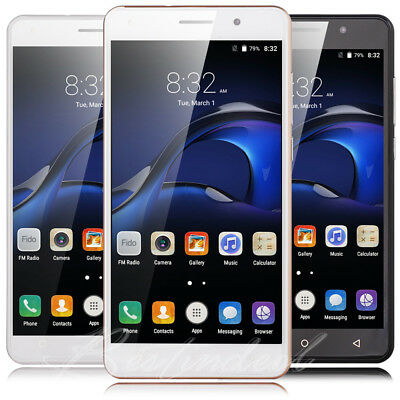 "5.5"" Unlocked Android 5.1 Dual SIM Quad Core 3G Mobile Phone Smartphone Cheap UK"