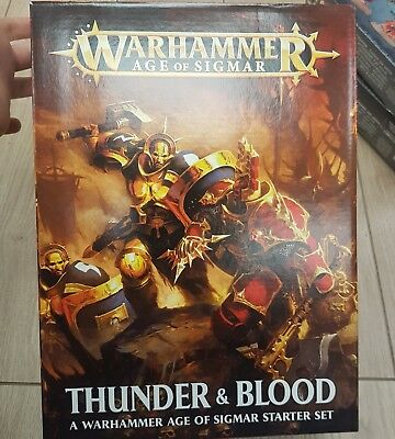 Warhammer AOS 'Thunder and Blood' Box Set - BNIB - Free White Dwarf