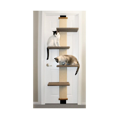 Cat scratcher door attachable climber extra space Cat tree Cat toy furniture