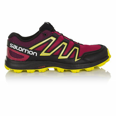 huge discount 78eb4 6139e ... uk salomon speedtrak womens pink black water resistant running shoes  trainers 38f27 4e043