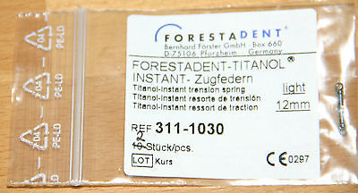 Forestadent TITANOL INSTANT Zugfedern light 12mm 311-1030 2 St.