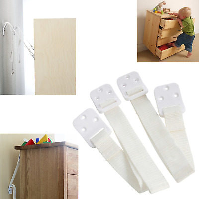 BabyDan Anti Tip Furniture Safety Wall Straps Anchor Baby Child Kids Proofing