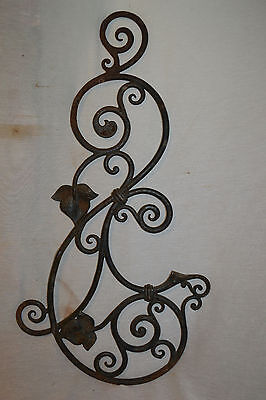 Vtg antique Cast Iron Rustic Trellis Garden Gate Fence Architectural Salvage