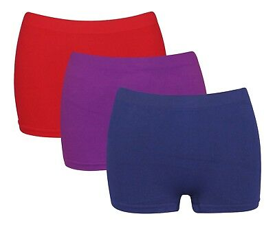 3 x Ladies High Waist Wicking Microfibre Womens Boxer Shorts Running Active G3
