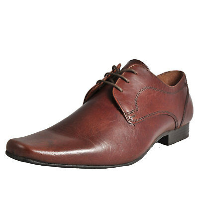 Red Tape Kingston Leather Men's Formal Smart Lace-Up Dress Shoes Brown