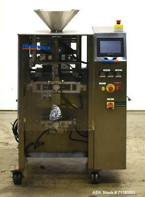 Used- Weighpack Vertek Jr. Vertical Form Fill Seal Machine. Capable of speeds up