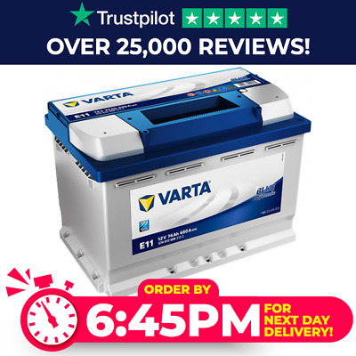 Varta E11 Type 096 / 067 / 100 Blue Dynamic Car Battery - 4 Year Guarantee