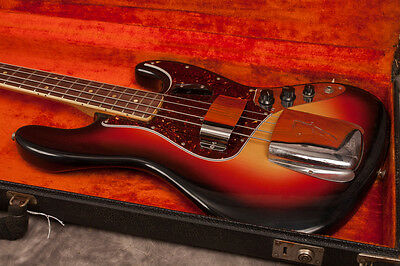1966 Fender Jazz Bass, Sunburst, Bound/Dot