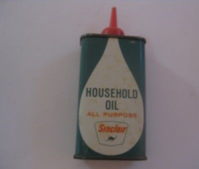 Vintage Sinclair Gas & Oil Household Oil Advertising Can ~ See All Our Oil Cans
