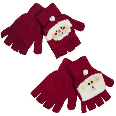 Ladies Novelty Christmas Themed Mitten Gloves Father Christmas Mrs Claus Winter