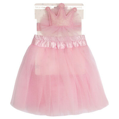 Babies Pink Tutu and Headband Set Dress Skirt Girls Crown Princess