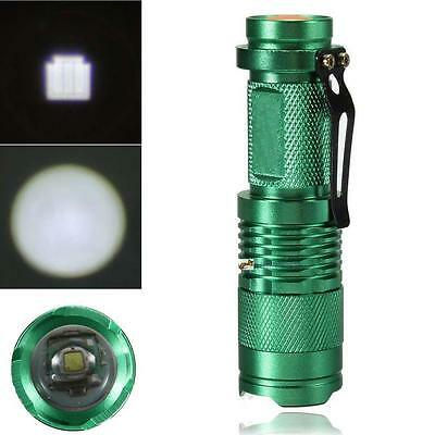 7W 5000lm Q5 LED Mini Zoomable Flashlight 14500/AA Torch Green UP