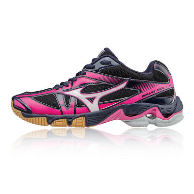 Mizuno Wave Bolt 6 Womens Pink Black Squash Indoor Court Shoes Trainers
