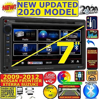 power acoustik am/fm cd/dvd touchscreen bluetooth/usb/eq car radio