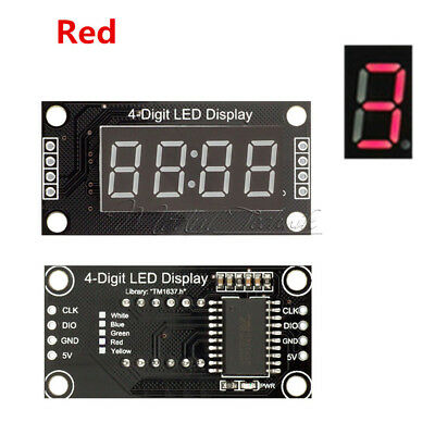 0.56 Inch 4-Bits Digital  LED TM1637 Anzeige Clock Tube  Display For Arduino Red